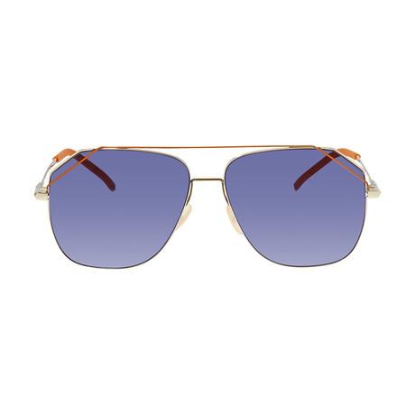 Fendi Men's Sunglasses // Gold + Blue