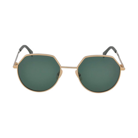 Fendi Men's Sunglasses // Rose Gold + Green