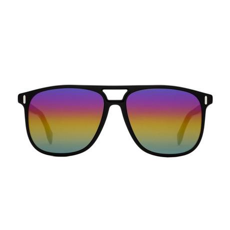 Fendi Men's Sunglasses // Black + Multicolor Mirror