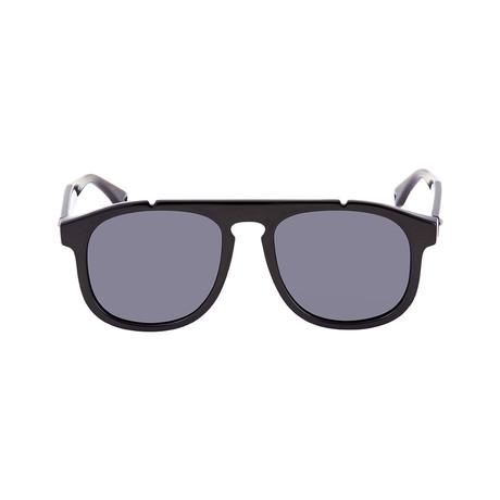 Fendi Men's Sunglasses // Black + Gray Blue