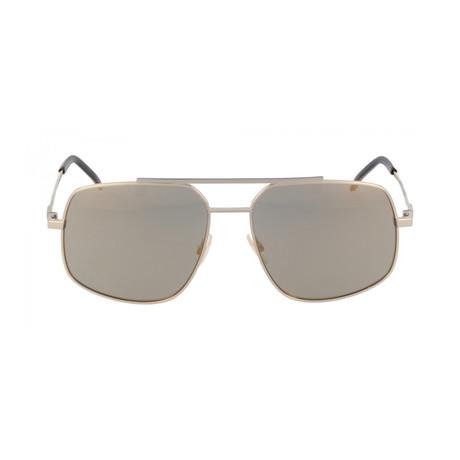 Fendi Men's Sunglasses // Gold + Gray Bronze Mirror