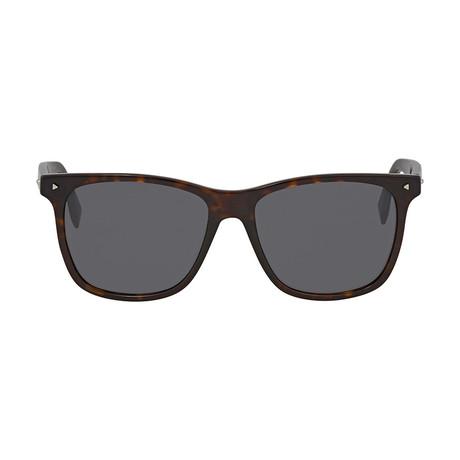 Fendi Men's Sunglasses // Dark Havana + Gray
