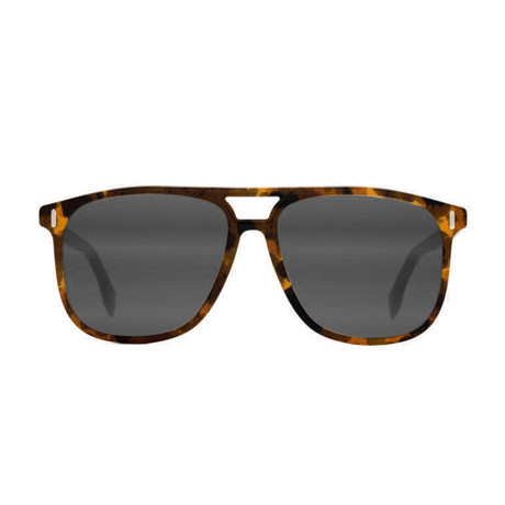 Fendi Men's Sunglasses // Dark Havana + Black Mirror