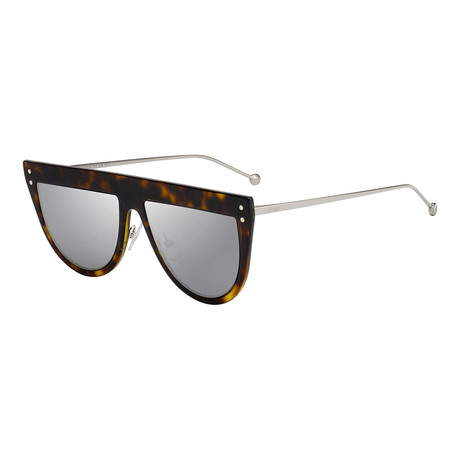Fendi // Women's Sunglasses // Dark Havana + Silver Mirror