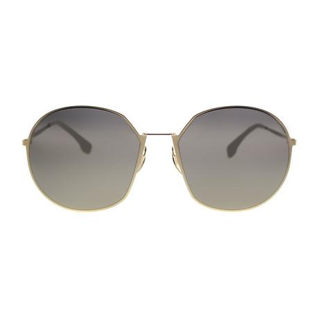 Fendi Unisex Sunglasses // Gold + Gray Ivory Mirrored