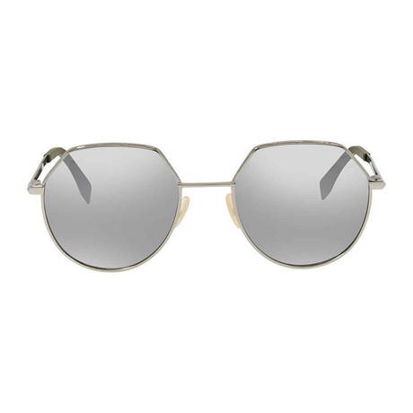 Fendi Men's Sunglasses // Ruthenium + Silver Mirror