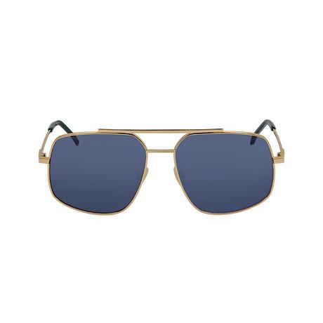 Fendi Men's Sunglasses // Rose Gold + Blue