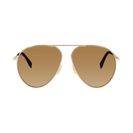 Fendi Men's Sunglasses // Gold + Brown