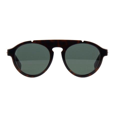Fendi Men's Sunglasses // Dark Havana + Green II