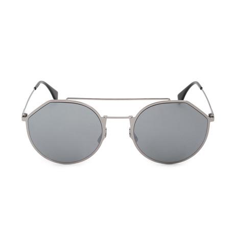 Fendi Men's Sunglasses // Ruthenium + Black