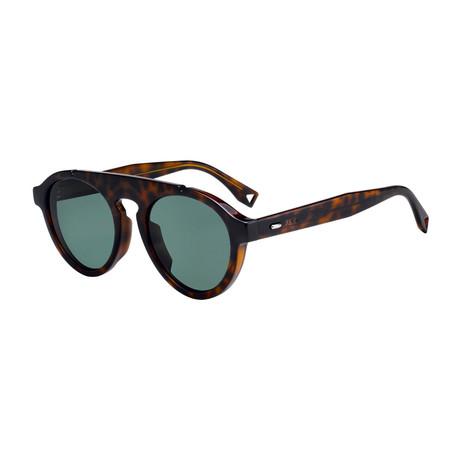 Men's Sunglasses // Dark Havana + Green