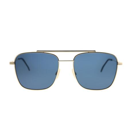 Fendi Men's Sunglasses // Rose Gold + Blue II