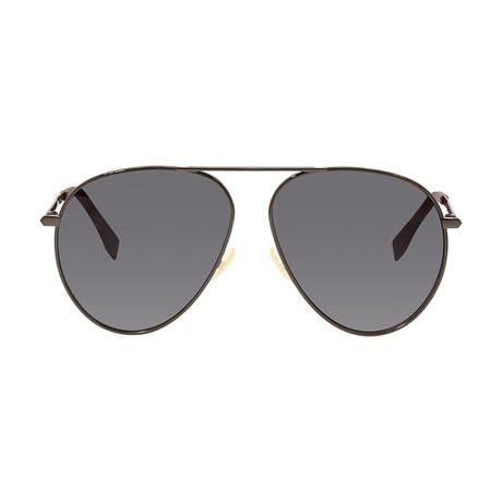 Fendi Men's Sunglasses // Dark Gray + Gray