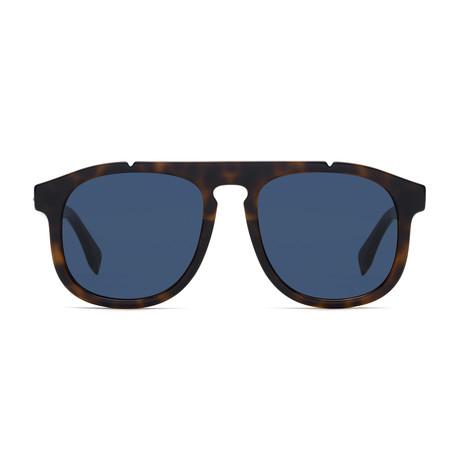 Fendi Men's Sunglasses // Dark Havana + Blue