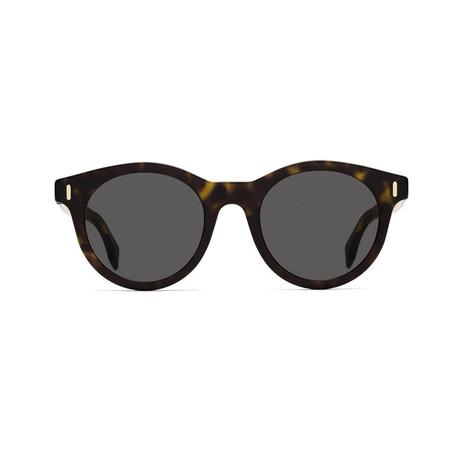 Fendi Men's Sunglasses // Dark Havana + Gray Blue