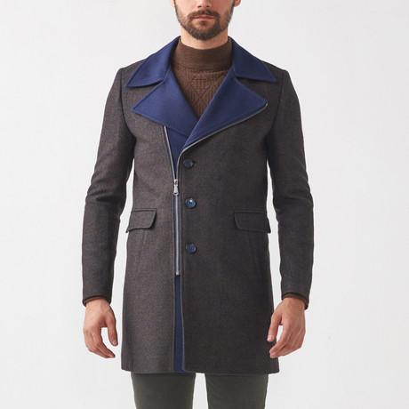 Francesco Wool Coat // Charcoal (Euro: 52)
