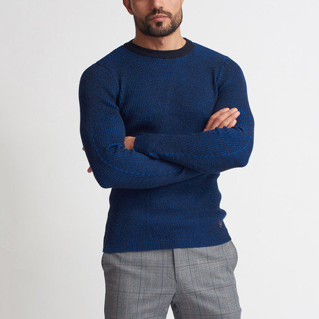 Henry Tricot Sweater // Dark Blue + Sax (S)