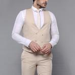 Benjamin 3-Piece Slim Fit Suit // Beige (Euro: 54)