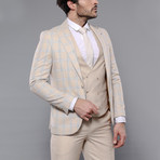 Benjamin 3-Piece Slim Fit Suit // Beige (Euro: 46)