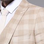 William 3-Piece Slim Fit Suit // Beige (Euro: 56)