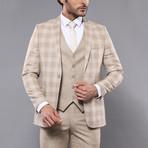 William 3-Piece Slim Fit Suit // Beige (Euro: 48)