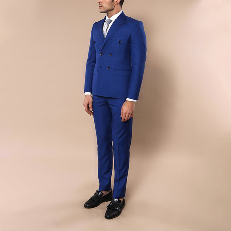 Oliver 2-Piece Slim Fit Suit // Sax Blue (Euro: 42)
