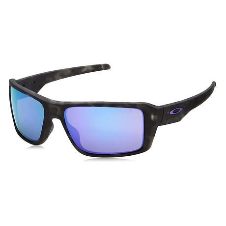 Unisex Double Edge Sunglasses // Matte Black + Tortoise Violet