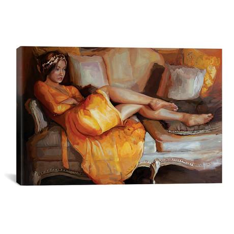 """Portrait Of Camellia (18""""W x 12""""H x 0.75""""D)"""