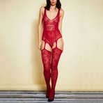 Mas Vino Bodystocking // Burgundy