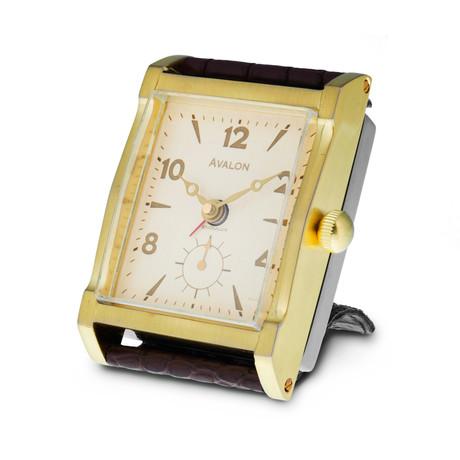 Avalon Alarm Clock // Brass