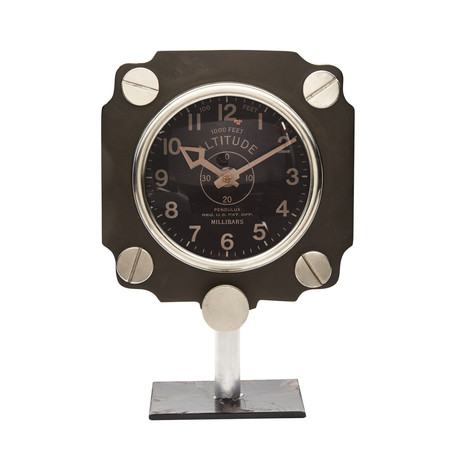 Altimeter Mantel Clock Black