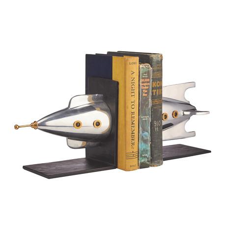 Rocket Bookends Aluminum