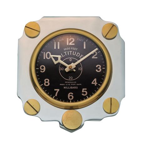 Altimeter Wall Clock Aluminum