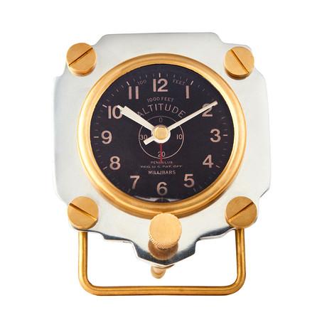 Altimeter Alarm Clock Aluminum