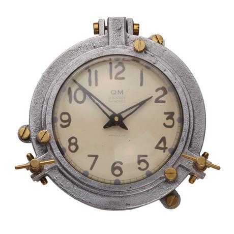 Quartermaster Wall Clock Alum