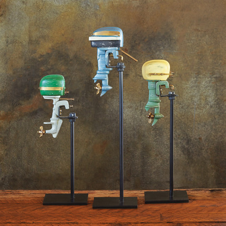 Outboard Motor Replica Set // Painted