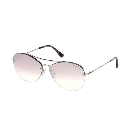 Women's Margret Sunglasses // Shiny Rhodium + Pink