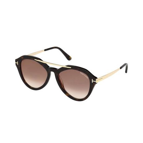 Tom Ford // Women's Lisa Sunglasses // Dark Havana + Mirrored Brown