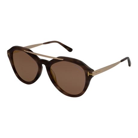 Women's Lisa Sunglasses // Light Havana + Brown