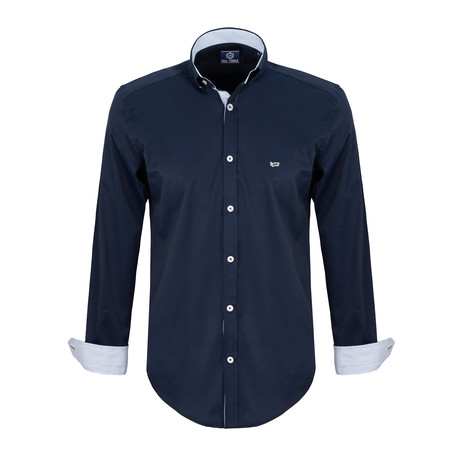 Lucas Dress Shirt // Navy (S)