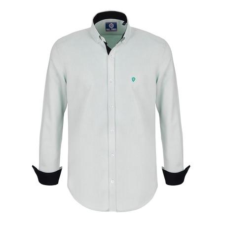 Dylan Dress Shirt // Ecru Green Point (S)