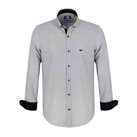 Ollie Dress Shirt // Navy + White (S)