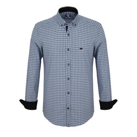 Mason Dress Shirt // Blue + Navy Plaid (S)