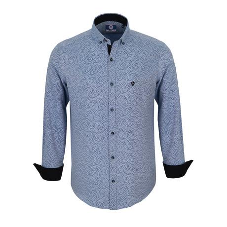 Harrison Dress Shirt // Blue + Navy (S)