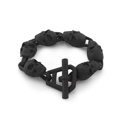 Skull Link Bracelet // Black