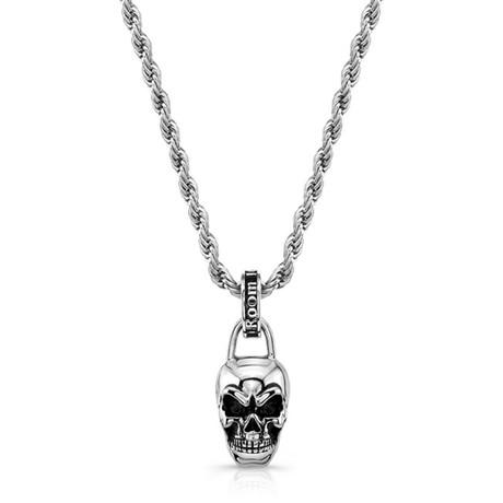 Skull Necklace // Silver