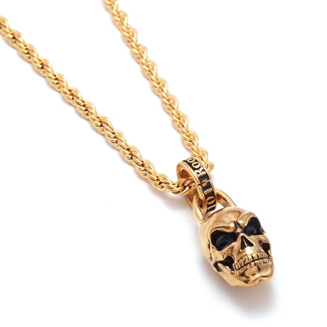 Skull Necklace // Gold Plated