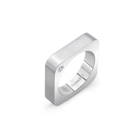 Square Ring // Matte Silver (6)