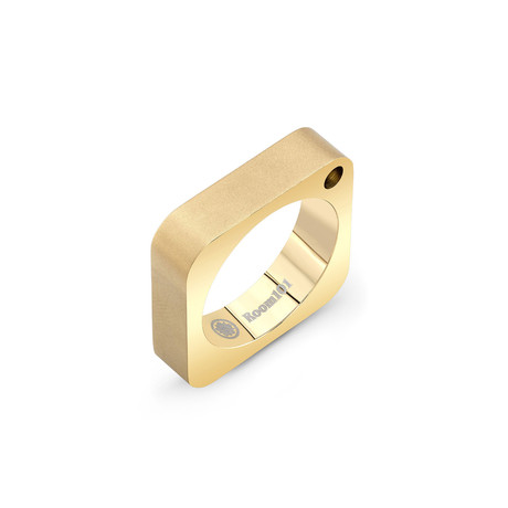 Square Ring // Gold Plated (6)