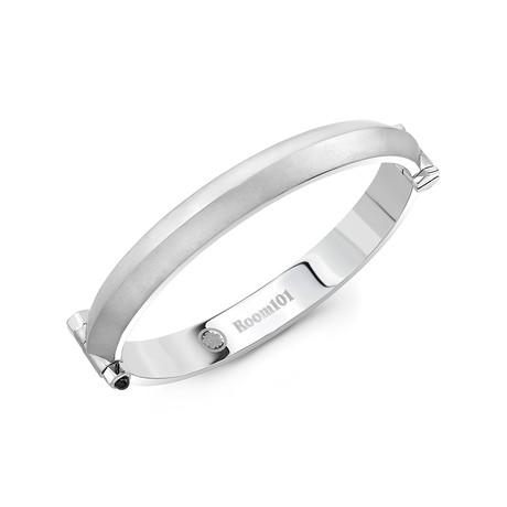 Blade Bangle Bracelet // Matte Silver (Small)